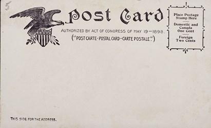 Reverse Side: Bureau of Eng. & Printing, Washington D.C.