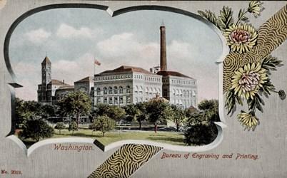 Bureau of Engraving & Printing, Washington.