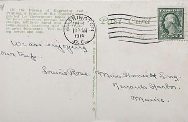 Reverse Side: Old Bureau of Engraving & Printing, Washington D.C.