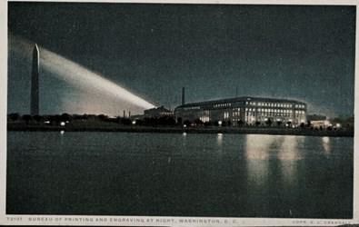 Bureau of Engraving & Printing at Night, Washington D.C.