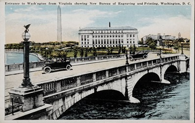 Entrance to Washington from Virginia showing New Bureau of Engraving and Printing, Washington, D.C.