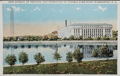 New Bureau of Printing and Engraving on Potomac Park and Basin, Washington, D.C.