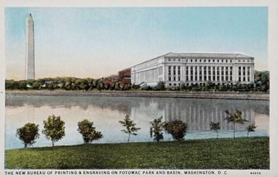 The New Bureau of Printing & Engraving on Potomac Park and Basin, Washington, D.C.