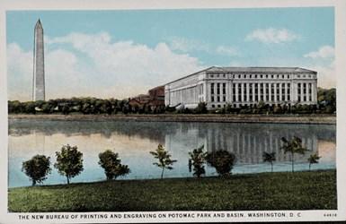 The New Bureau of Printing and Engraving on Potomac Park and Basin, Washington, D.C.
