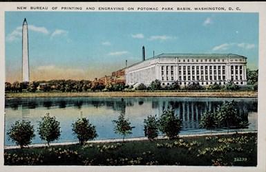 New Bureau of Printing and Engraving on Potomac Park Basin, Washington, D.C.