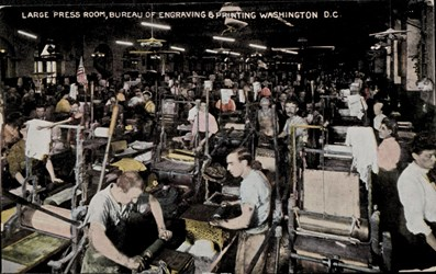 Large Press Room, Bureau of Engraving & Printing Washington D.C.