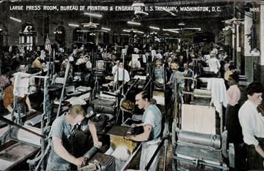 Large Press Room, Bureau of Printing & Engraving, U.S. Treasury, Washington D.C.