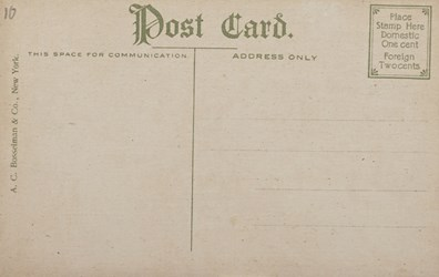 Reverse side: Large Press Room, Bureau of Printing & Engraving, U.S. Treasury, Washington D.C.