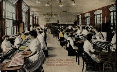Making Postage Stamps, Bureau of Engraving and Printing, Washington, D.C.