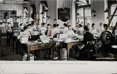 U.S. Bureau of Engraving and Printing. Counting and Packing Currency for Shipment.