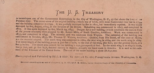 Reverse side: U.S. Treasury