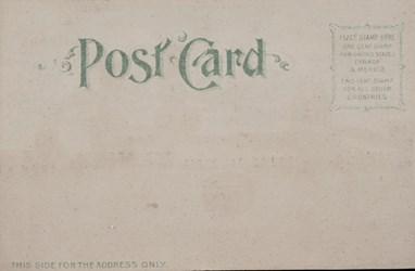 Reverse side: Official Souvenir, World's Fair - St. Louis 1904, Palace of Machinery