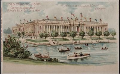 Official Souvenir, World's Fair - St. Louis 1904, Palace of Education & Social Economy