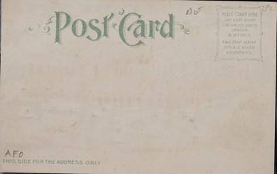 Reverse side: Official Souvenir, World's Fair - St. Louis 1904, Palace of Education & Social Economy