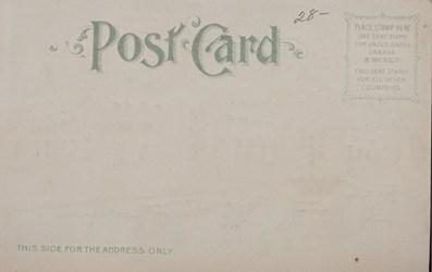Reverse side: Official Souvenir, World's Fair - St. Louis 1904, Palace of Liberal Arts