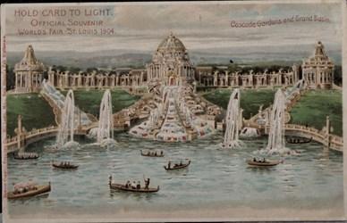 Official Souvenir, World's Fair - St. Louis 1904, Cascade Gardens and Grand Basin