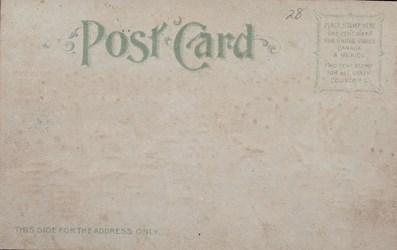 Reverse side: Official Souvenir, World's Fair - St. Louis 1904, Cascade Gardens and Grand Basin