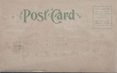 Reverse side: Official Souvenir, World's Fair - St. Louis 1904, Palace of Electricity