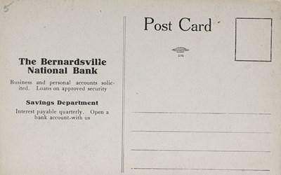 Reverse Side: Bernardsville National Bank, Bernardsville, N.J.
