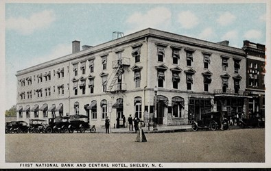First National Bank and Central Hotel, Shelby, N.C