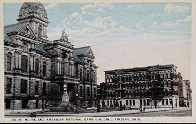 Court House and American National Bank Building, Findlay, Ohio