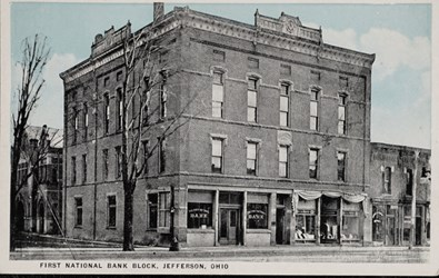First National Bank Block, Jefferson, Ohio