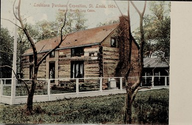 Louisiana Purchase Exposition, St. Louis, 1904. General Grant's Log Cabin