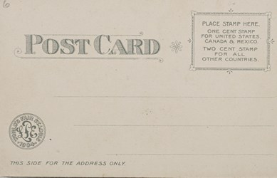 Reverse side: Official Souvenir World's Fair - St. Louis 1904, Palace of Mines and Metallurgy