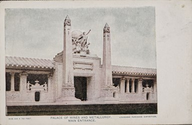 Palace of Mines and Metallurgy. Main entrance.