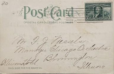 Reverse side: Official Souvenir World's Fair - St. Louis 1904, Grand Lagoon