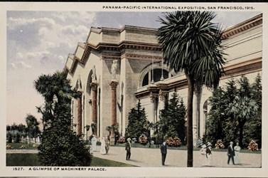 Panama-Pacific International Exposition, San Francisco, 1915. A Glimpse of Machinery Palace.