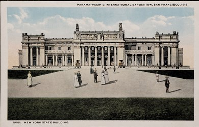 Panama-Pacific International Exposition, San Francisco, 1915. New York State Building.