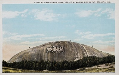 Stone Mountain with Confederate Memorial Monument