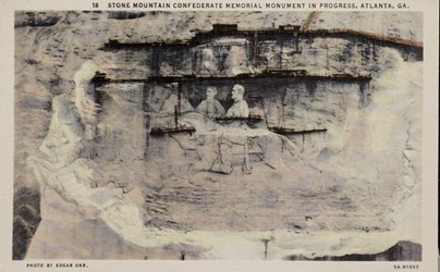 Stone Mountain Confederate Memorial Monument in progress, Atlanta, GA.