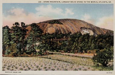 Stone Mountain, Largest Solid Stone in the World, Atlanta, GA