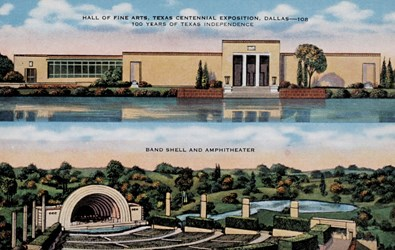 Hall of Fine Arts, Texas Centennial Exposition, Dallas�108. Band Shell and Amphitheater.