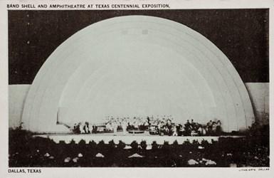 Band Shell and Amphitheatre at Texas Centennial Exposition, Dallas, Texas