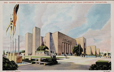 Varied Industries, Electrical and Communications Buliding at Texas Centennial Exposition, Dallas, Texas