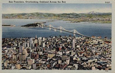 San Francisco, overlooking Oakland across the Bay