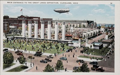 Main entrance to the Great Lakes Exposition, Cleveland Ohio