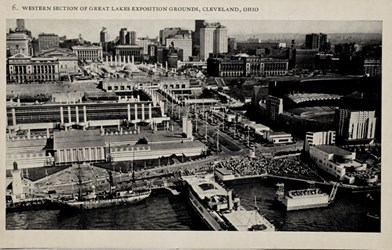 Western section of Great Lakes Exposition Grounds, Cleveland, Ohio