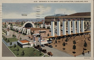 Entrance to the Great Lakes Exposition, Cleveland, Ohio