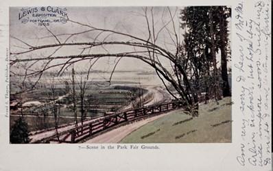 Lewis & Clark Exposition, Portland, Or. 1905. Scene in the Park Fair Grounds
