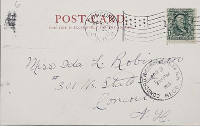 Reverse side: Lewis & Clark Exposition, Portland, Or. 1905. Scene in the Park Fair Grounds