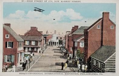 High Street of 1776, now Market Street, Sesqui-Centennial International Exposition, Philadelphia, PA.
