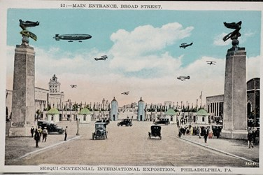 Main entrance, Broad Street, Sesqui-Centennial International Exposition, Philadelphia, PA.