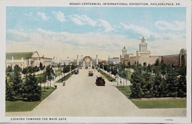 Sesqui-Centennial International Exposition, Philadelphia, PA. Looking towards the main gate.