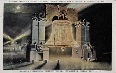 The Great Electric Liberty Bell consisting of 26,000 electric bulbs, Sesqui-Centennial International Exposition, Philadelphia, PA.