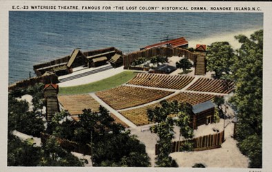 "Waterside Theatre, Famous for ""The Lost Colony"" Historical Drama, Roanoke Island, N.C."