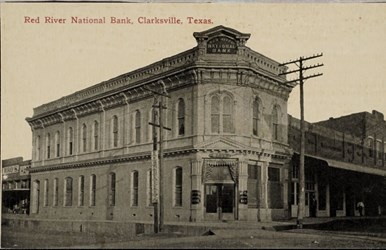 Red River National Bank, Clarksville, Texas.